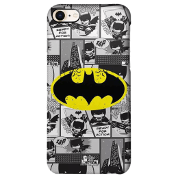 The Souled Store Batman - Comics Polycarbonate Back Case Cover for Apple iPhone 8 (73183, Black/Yellow)_1