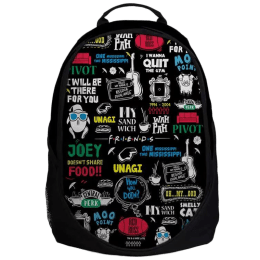 The Souled Store F.R.I.E.N.D.S- Doodle Travel Backpack (Black)_1