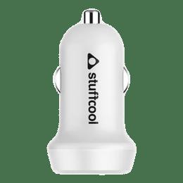 Stuffcool Atom 2.4 Amp Car Charging Adapter (ATOM24-BLK/WHT, White)_1