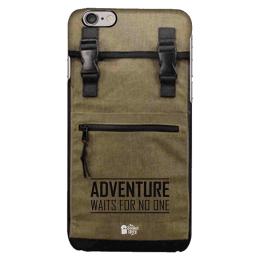The Souled Store Adventure Backpack Polycarbonate Mobile Back Case Cover for Apple iPhone 6 (61203, Brown)_1