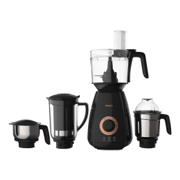 Philips Avance Collection 750 Watts 4 Jars Mixer Grinder (Gear Drive Technology, HL7707/00, Black)_1