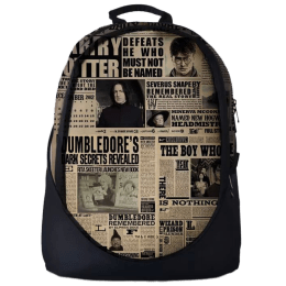 The Souled Store Harry Potter- The Daily Prophet 25 Litres Laptop Backpack (Beige)_1