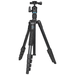 Benro iTrip Adjustable 147.50 cm Aluminium Travel Angel Tripod Kit for DSLR/SLR and Video Camera (Up to 4Kg, IT15, Black)_1