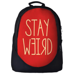 The Souled Store Stay Weird 30 Litres Laptop Backpack (Red/Black)_1