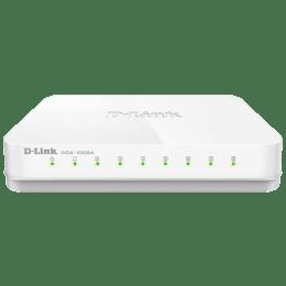 D-Link 8-Port Gigabit Switch (DGS-1008A, White)_1