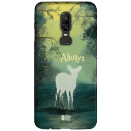 The Souled Store Harry Potter - Always Polycarbonate Mobile Back Case Cover for OnePlus 6 (121062, Green)_1