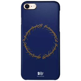 The Souled Store LOTR - Ring Inscription Polycarbonate Mobile Back Case Cover for Apple iPhone 8 (123829, Navy Blue)_1