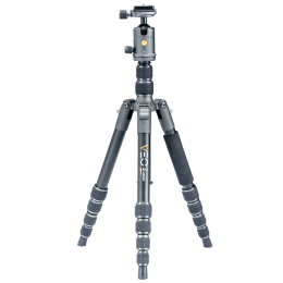 Vanguard Veo 2 Go Adjustable 141 cm Aluminum Ball Head Tripod for All Cameras (Up to 4 Kg, Round Rubber Feet, 235AB, Black)_1