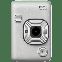 Fujifilm Instax Mini LiPlay Instant Camera (Pick and Print, Stone White)_1
