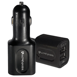 Ultraprolink Torque 30 Watt Qualcomm Dual USB Car Charging Adapter (UM0052BLK, Black)_1