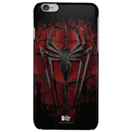 The Souled Store Spider - Man - Crest Polycarbonate Mobile Back Case Cover for Apple iPhone 6S (61819, Red/Black)_1
