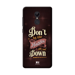 The Souled Store Harry Potter - Muggles Polycarbonate Mobile Back Case Cover for Xiaomi Redmi Note 5 (84933, Brown)_1