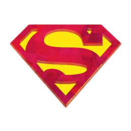 The Souled Store Superman Logo Sticker (Red/Yellow)_1