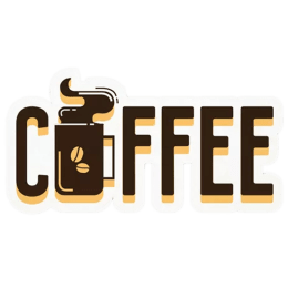 The Souled Store Coffee Sticker (Brown)_1