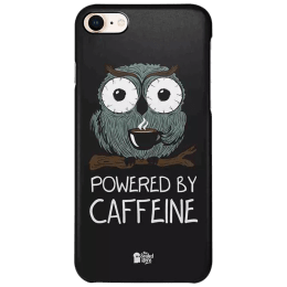 The Souled Store Caffeine Addict Polycarbonate Mobile Back Case Cover for Apple iPhone 8 (73193, Black)_1