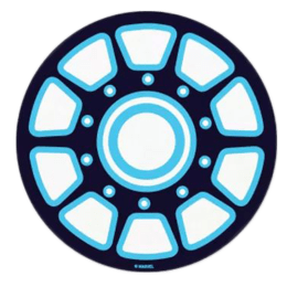 The Souled Store Iron Man Arc Reactor Sticker (Blue)_1
