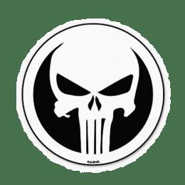 The Souled Store Punisher Skull Sticker (White)_1