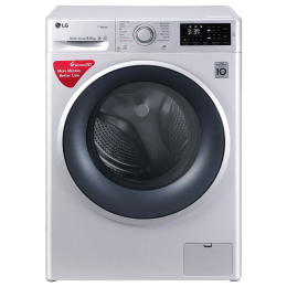 LG 6.5 kg Fully Automatic Front Loading Washing Machine (FHT1065SNL, Luxury Silver)_1