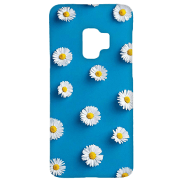 Cangaroo Sunflower Emboss Polycarbonate Hard Back Case Cover for Samsung Galaxy S9 (HD_SamS9_Kri_008_SMLFLR, Blue)_1