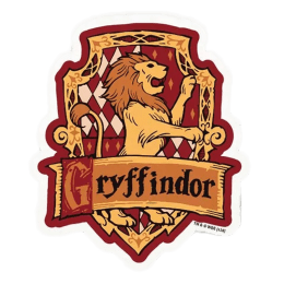 The Souled Store Harry Potter Gryffindor Sigil Sticker (Red/Yellow)_1