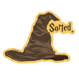 The Souled Store Harry Potter Sorting Hat Sticker (Brown)_1