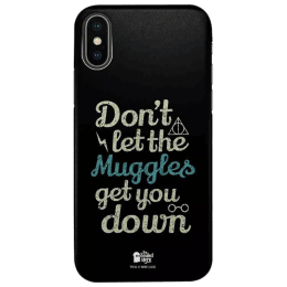 The Souled Store Harry Potter - Muggles Polycarbonate Mobile Back Case Cover for Apple iPhone X (75018, Black)_1