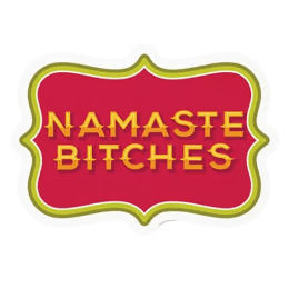 The Souled Store Namaste B*tches Sticker (Red/Gold)_1