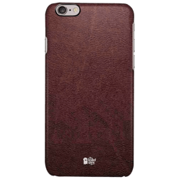 The Souled Store Vintage Leather Mobile Back Case Cover for Apple iPhone 6S (61826, Brown)_1