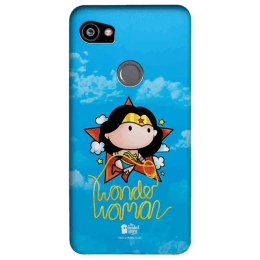 The Souled Store Wonder Woman - Princess Diana Polycarbonate Mobile Back Case Cover for Google Pixel 2 XL (80465, Blue)_1