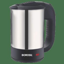 Borosil Eva 0.5 Litre 1000 Watts Electric Kettle (Non-Detachable Base, Dry Boil Protection, BKE05LSSB31, Silver)_1