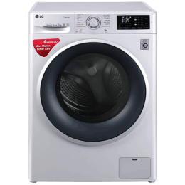 LG 7 kg Fully Automatic Front Loading Washing Machine (FHT1007SNLALSPEIL, Luxury Silver)_1