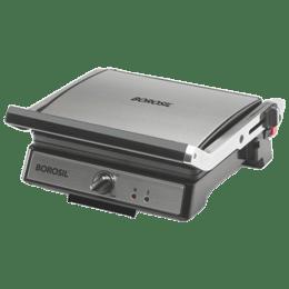 Borosil Super Jumbo 180 Degree 4 Slice Automatic Grill Sandwich Maker (Oil Drip Collector Tray, BGRILLSS12, Silver)_1