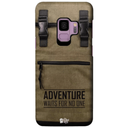 The Souled Store Adventure Backpack Polycarbonate Mobile Back Case Cover for Samsung Galaxy S9 (122365, Brown)_1