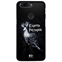 The Souled Store Harry Potter - Expecto Patronum Polycarbonate Mobile Back Case Cover for OnePlus 5T (81630, Royal Blue)_1