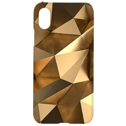Cangaroo Golden Effect On Triangle Polycarbonate Hard Back Case Cover for Apple iPhone X/XS (HD_iX_Kri_020_TRIGLDN, Gold)_1