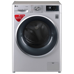 LG 9 kg Fully Automatic Front Loading Washing Machine (FHT1409SWL, Stainless Steel)_1