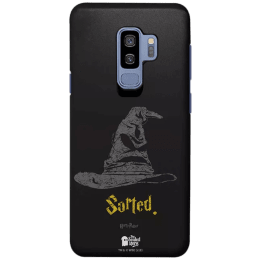 The Souled Store Harry Potter - Sorting Hat Polycarbonate Mobile Back Case Cover for Samsung Galaxy S9 Plus (122095, Black)_1