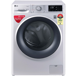 LG 6 Kg 5 Star Fully Automatic Front Loading Washing Machine (FHT1006ZNL.ALSQEIL, Luxury Silver)_1