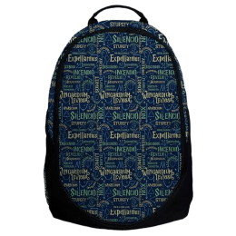 The Souled Store Harry Potter- Spells 30 Litres Laptop Backpack (Blue/Black)_1