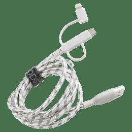 Boompods Trio Armour 3-in-1 150 cm USB 2.0 (Type-A) to USB (Type-C) + Micro USB + Lightning Cable (BP-TRIO-TIT, Titanium)_1
