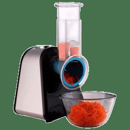 Borosil 200 Watt Salad Cutter (Suitable for Vegetable, Inbuilt Thermostat, BSC20SSB12, Black)_1