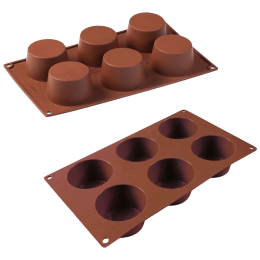 Wonderchef Pavoni Muffin 6 Portions Mould For Microwave, Refrigerator (Good Elasticity, 63152908, Brown)_1