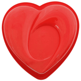 Wonderchef Pavoni Heart Shaped Cake Mould (Non-Toxic, 63152920, Red)_1