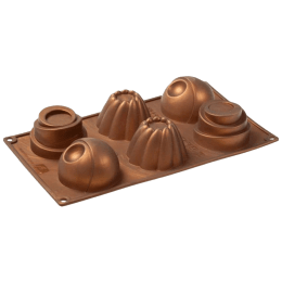 Wonderchef Pavoni Home Edition Mould for Microwave, Refrigerator (Good Elasticity, 63152911, Brown)_1