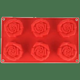 Wonderchef Pavoni Rosa Fiorita 6 Portions Mould (Good Elasticity, 63152910, Red)_1