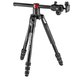 Manfrotto Befree GT XPRO Adjustable 164 cm Tripod For DSLR Cameras (Up to 10 Kg, Twist M-Lock Leg System, MKBFRA4GTXP-BH, Black)_1