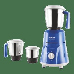 Borosil Star 500 Watts 3 Jars Mixer Grinder (Flow Breaker, HAMG500W23, Blue)_1