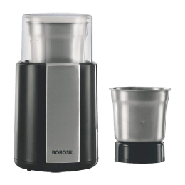 Borosil 200 Watts 3 Jar Spice Grinder (Inbuilt Jar Locking Switch, BSG20PSB11, Black)_1