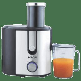 Borosil Primus SS 800 Watts Juicer (Anti Drip Juice Nozzle, BJU80SSB12, Silver)_1