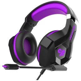 Cosmic Byte Over-Ear Wired Gaming Headset with Mic (H11, Purple)_1
